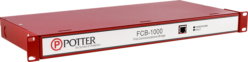Place the FCB-1000 in-line with your building's existing network cards with rack mounts.