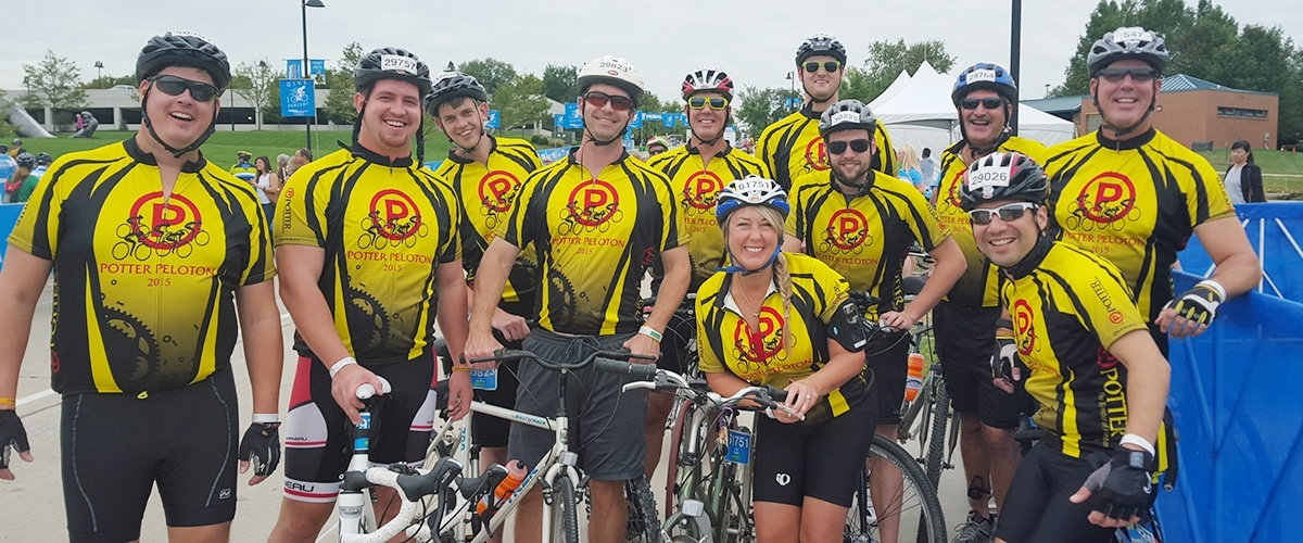 Potter Participates in the Pedal the Cause Bike Race for Charity